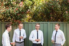Groom and groomsmen having some fun before the Newcastle wedding ceremony! bewww.somethingbluephotography.com.au