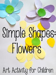 Simple Shapes: Flowers.  An art activity for children.