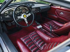 the fifth-to-last Daytona built Original Euro-specification with air-conditioning Limited use. Car Interior Design, Car Interior Accessories, Interior Ideas, Classic European Cars, Classic Cars, Car Interior Upholstery, Car And Driver, Supercars, Hot Rods
