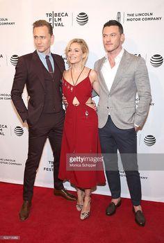 Tom Hiddleston, Sienna Miller and Luke Evans attend 'High-Rise' Premiere - 2016 Tribeca Film Festival at SVA Theatre 2 on April 20, 2016 in New York City.