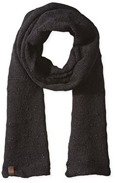 True Religion Men's Slub Knit Scarf, Black, One Size Men's Fashion *** Learn more by visiting the image link.