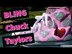 Custom Converse Sneakers (bling edition) - YouTube Bling Converse, Custom Converse, Converse Sneakers, Custom Sneakers, Bling Wedding Shoes, Bling Shoes, Christmas Shoes, Holiday Shoes, Teen Style