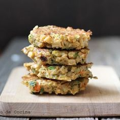 Croquetas de verduras Canapes, Vegan, Chicken, Food, Albondigas, Chocolates, Quiche, Gluten, Ideas