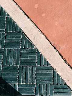 patio tile coral + green