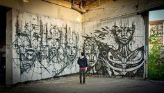 Urban wall mural by IEMZA #iemza #streetart #art #graffiti