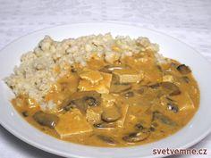 Tofu-žampiónová omáčka, recept