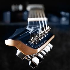 New twist on the old headstock: UK's Lodestone Guitar Company's 'LaidBack' design promises more natural ergonomics and optimized friction at the nut