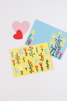 FREE Printable Illustrated Valentine's Cards by Caitlin Watson Boyes