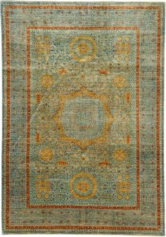 Blue Mamluk Ziegler Area Rug  - EXPENSIVE was $16,204 now $4051. 7x10  Blue, gold, beige, rust red