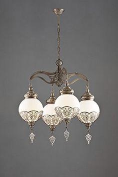 Ottoman Palace Style Chandelier, Express Shipping, 4 Bulbs, Turkish Lamp, Turkish Lighting GrandBazaarShopping http://www.amazon.com/dp/B0104I1AL0/ref=cm_sw_r_pi_dp_gDo9vb0M513DB