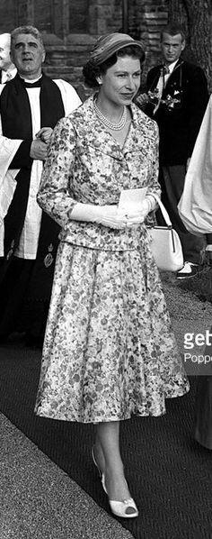 Queen Elizabeth, June 1956 in Sweden Queen Elizabeth Ii, Lace Skirt, Sweden, Skirts, June, Fashion, Moda, Fashion Styles, Skirt