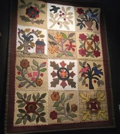 All Done in Wools -- 2013 Sew Graceful Quilting Block of the Month