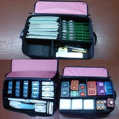 Amazing ways to organize your cricut cartridges, border maker system, and punches with the Creative Memories Tools Organizer. The New Color is blue. Click on photo to order your own.