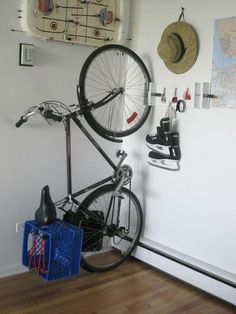 DIY Bike Storage Solutions | Bike storage and skate!!!