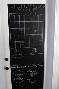 YEAH!  Chalkboard Paint on the back of a door!