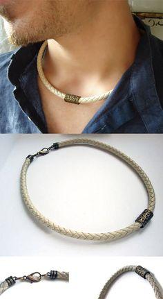 Men Choker, Choker Jewelry, Chokers, Jewlery, Unique Necklaces, Necklaces For Men, Unique Jewelry, Diy Jewelry, Jewelry Making
