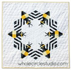 Looking for your next project? You're going to love Bzzzzzz (bee) mini quilt by designer wholecircle.