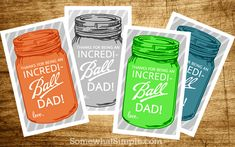 Father's Day Gift Tags - Father's Day Gift Ideas - Mason Jar Crafts for Father's Day - Mason Jar Gifts for Father's Day - Kid's Crafts for Father's Day @Mason Jar Crafts Love blog