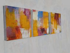 "ARTFINDER: Triptychon - three pieces by richard  kuhn - Acrylic  painting on Canvas  Title: "" Triptychon ""  Medium: Acrylics on streched canvas  Size: each  11.81` x 11.81` x 1.57 inches   This Paintings a..."