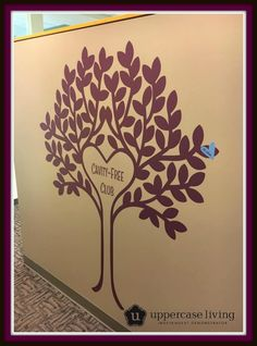 Every dentist office needs a Cavity-Free Club Tree!  Kimberly.uppercaseliving.net #DDS #CavityFreeClub #DentistOfficeDecor #UL #UppercaseLiving