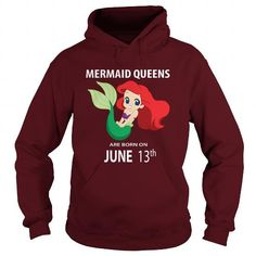 Cool JUNE 13 mermaid birthday queen celebrating birthdays mermaid queens are born T shirts