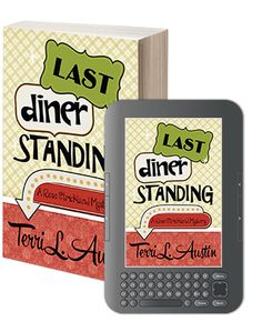 LAST DINER STANDING (Rose Strickland Mysteries, Book 2) Rose Strickland is having a blue Christmas. Her friend is arrested for attempted murder, her sexy bad guy crush is marked by a hit man, and her boss is locked in an epic smackdown with a rival diner. Determined to save those she loves, Rose embarks on an investigation more tangled than a box of last year's tree lights.