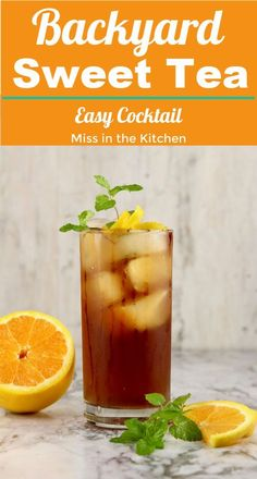 Backyard Sweet Tea {Rum Cocktail} - Miss in the Kitchen Backyard Sweet Tea is a super simple and tasty rum cocktail for any holiday, party or get together with friends. This is a great mixed drink to have in your recipe box for last minute entertaining. Best Soup Recipes, Best Cocktail Recipes, Tea Recipes, Drink Recipes, Punch Recipes, Favorite Recipes, Fruity Mixed Drinks, Easy Mixed Drinks, Ginger Cocktails