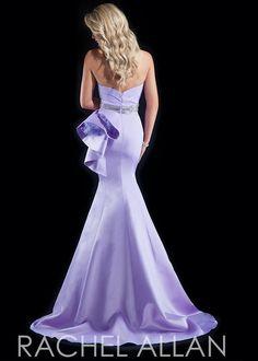 Rachel Allan 8015 Strapless Satin Mermaid Gown