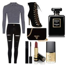 """""""Night out x💒"""" by macie-miller-1 on Polyvore featuring Topshop, River Island, Prada, Gucci and NARS Cosmetics"""