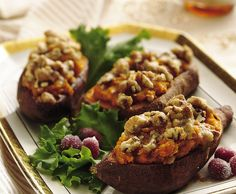 Twice-Baked Sweet Potatoes Recipe (1 hour)