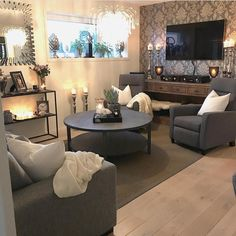 Elegant grey living room