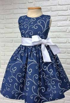 Navy Blue Sleeveless Kids Wear At Fabloon Fashion Boutique And Designer Kids Frock Tailoring kids wear kids dress for girls kids party wear childrens dress wear African Dresses For Kids, Latest African Fashion Dresses, Dresses Kids Girl, Kids Outfits, 50s Dresses, Girls Frock Design, Kids Frocks Design, Baby Dress Design, Frock Patterns