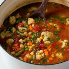 Cauliflower Vegetable Soup