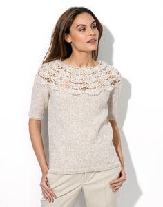 Book Woman Urban 91 Autumn / Winter | 34: Woman Sweater | Light beige