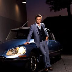 Patrick Jane as The Mentalist. He is so handsome and his car isn't too bad either!
