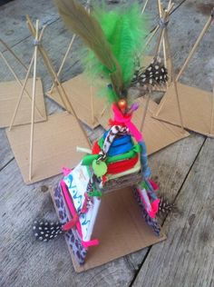 DIY Tipi or Wigwam….just had this idea in my head and now i find this…sooo p… DIY Tipi or Wigwam….just had this idea in my head and now i find this…sooo pretty! must try with the kiddos. Projects For Kids, Diy For Kids, Craft Projects, Crafts For Kids, Arts And Crafts, Diy Crafts, Paper Crafts, Diy Tipi, Native American Crafts