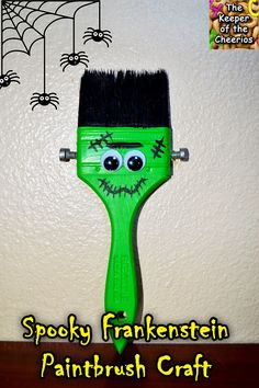 The Keeper of the Cheerios: Spooky Franeknstein Paintbrush Craft