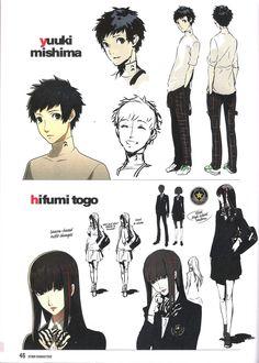 Persona 5 Yuuki Mishima, Hifumi Togo Concepts