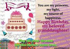 Discover and share Birthday Quotes For Granddaughter. Explore our collection of motivational and famous quotes by authors you know and love. Facebook Birthday Cards, Birthday Messages, Birthday Quotes, My Princess, I Am Happy, Famous Quotes, Picture Quotes, Dreaming Of You, Happy Birthday