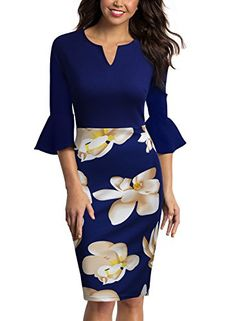 Price: (as of - Details) Specifications: Please remember to check the size chart before you order the dress. Please allow inch differs due to Skirt Outfits, Dress Skirt, Casual Dresses, Fashion Dresses, Fitted Dresses, Work Dresses For Women, Bodycon Dress Parties, Office Outfits, Office Wear