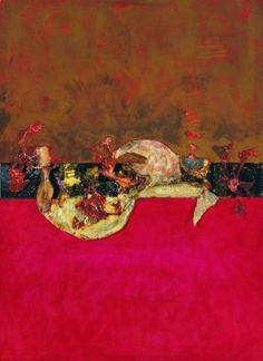 Pejzaż 1943 - Czerwony ślad (1964-1965) olej, płótno, 139x165 cm w zbiorach Muzeum Narodowego we Wrocławiu fot. pracownia fotograficzna MNWr