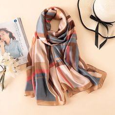 2018 luxury brand women scarf fashion print silk scarves for lady shawls and wraps spring winter pashmina foulard bandana hijab Summer Wraps, Chiffon Shawl, Silk Scarves, Printed Scarves, Shawls And Wraps, Scarf Styles, Womens Scarves, Fashion Prints, Hijab Fashion