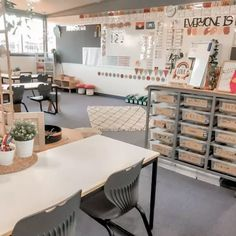 Kindergarten Classroom Decor, Modern Classroom, Classroom Layout, First Grade Classroom, Classroom Setting, Classroom Design, Classroom Themes, School Classroom, Classroom Organization