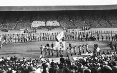 """London's Olympic Legacy"" By Michael Slenske- The closing ceremony of the 1948 London Olympic Games in Wembley Stadium."
