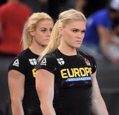 Crossfitters, Ragnheidur Sara Sigmundsdottir and Katrin Davidsdottir.