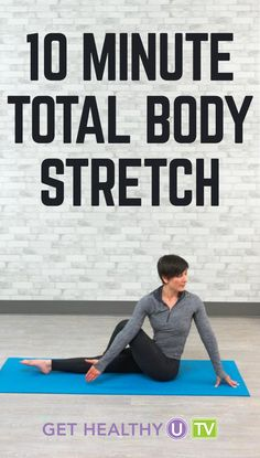 In need of a good total body stretch? Try this 10-minute routine led by Leah Zahner. Leah will lead you through a gentle series of stretches that will loosen up your muscles, improve your flexibility, and leave you feeling amazing. All you need for this total body stretch is a mat and a little space. No equipment is necessary, and you can do this 10-minute stretch anytime, anywhere. You can do it at the end of your workout or even just on its own as a great way to stretch your muscles…