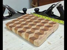 3D Cube End Grain Cutting Board - YouTube