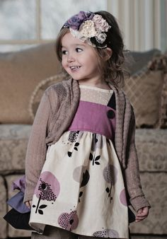 Persnickety Clothing | Emiline Shrug - Brown Pink Stripe - Pretty In Pink - One Good Thread
