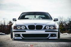 BMW E39 5 series silver deep dish slammed dapper