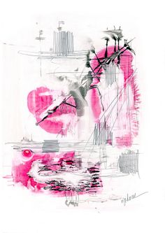 Archival Abstract Watercolor Print by